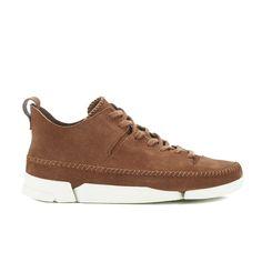 Clarks Originals Men's Trigenic Flex Shoes - Dark Tan Suede