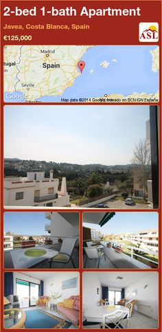 2-bed 1-bath Apartment in Javea, Costa Blanca, Spain ►€125,000 #PropertyForSaleInSpain