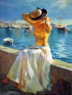 Vladimir Volegov. I love the vivid colors and highlights - wish I could paint like this.