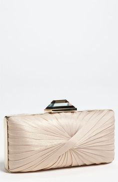 Georgeous for bride in ivory or silver or gold for MOB! Sondra Roberts  Pleated Clutch 8e9915aced395