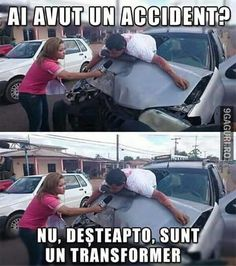 Ai avut un accident? Silly Jokes, Crazy Funny Memes, Haha Funny, Funny Texts, Funny Jokes, Hilarious, Funny Photos, Funny Images, Best Dad Jokes