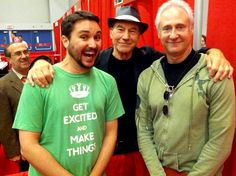 Wil Wheaton, Sir Patrick Stewart & Brent Spiner at Montreal Comic Con