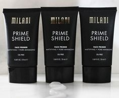 Bye bye shine. Hello long-lasting and flawless foundation.  Shown: Prime Shield Mattifying + Pore-Minimizing Face Primer  #milani #milanicosmetics #primer #faceprimer #mattifying #matte