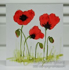 StampingMathilda: Distress Stain Poppies