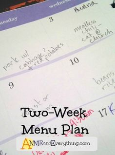This meal planner is possibly the easiest and last menu planning you'll ever do.