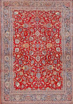 Kashan carpet  Central Persia  circa 1920  size approximately 8ft. 11in. x 12ft. 9in.