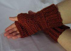 $1.99 - Simple Fingerless Mittens - A Crochet pattern from jpfun.com