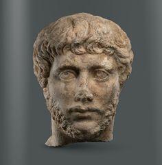 Portrait of a contemporary of emperor Gallienus, Roman ca 250-270 A.D.