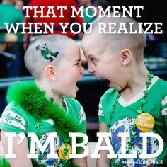 """Support Childhood Cancer Awareness!  """"And whether you are an adult with cancer or a child with cancer, learn to embrace your baldness -- and always know that you are truly beautiful no matter what!""""   ~Skye"""