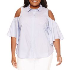 FREE SHIPPING AVAILABLE! Buy Worthington Cold Shoulder Button-Front Shirt-Plus at JCPenney.com today and enjoy great savings. Available Online Only!