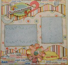 Endless Summer  12x12 Premade 2 Page Layout by 2ScrappyGals