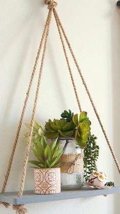 Diy Crafts Room Decor, Home Decor Hooks, Diy Garden Decor, House Plants Decor, Plant Decor, Diy Wall Art, Diy Wall Decor, Diy Interior, Home Interior Design