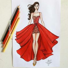 Fashion Design Books, Fashion Design Sketchbook, Fashion Design Drawings, Fashion Sketches, Fashion Figure Drawing, Fashion Drawing Dresses, Fashion Illustration Dresses, Dress Design Drawing, Dress Design Sketches