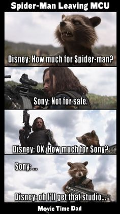 Pretty sure this is exactly how negotiations for the rights to Spider-Man will go if Disney wants to buy them. Pretty sure this is exactly how negotiations for the rights to Spider-Man will go if Disney wants to buy them. Funny Marvel Memes, Marvel Jokes, Dc Memes, Avengers Memes, Marvel Dc Comics, Marvel Avengers, Marvel Universe, Mejores Thrillers, Superhero Memes
