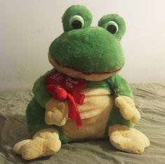 "Dan Dee Frog Hearts Hug Love Kiss Me Large 30"" Plush Stuffed Animal    Toys & Hobbies, Stuffed Animals, Dan Dee   eBay!"
