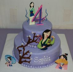 Mulan Cake By 3SheetCakes on CakeCentral.com