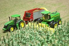 Yep, this is a John Deere toy tractor display.  Very cool!
