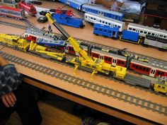 Lego trains ... I need to build these with my boys :)