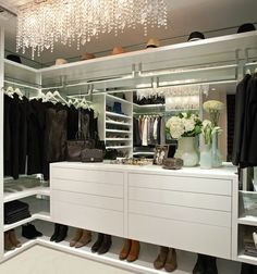 Dream closet (minus the mirror throughout the back)