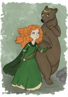 """""""Brave,"""" is the first to have a girl that does not fit the cookie-cutter shape of Disney princesses. Merida's wild hair, slightly larger waist, smaller eyes, and rounder face, not only give her more realistic proportions, but create such a unique and entertaining character! It allows the viewers to focus on the journey of Merida as she tries to assert herself as an individual, smart human being."""