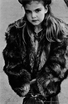 Harold Feinstein, Young Girl in Fur Coat, 1950