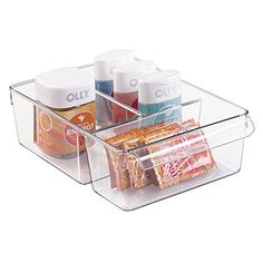 Bathroom Organization: mDesign Storage Bin Organizer for Vitamins, Medicine, Medical, Dental Supplies - Divided, Clear ** Learn more by visiting the image link.