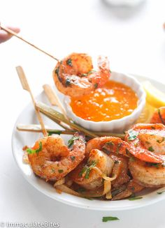 These Jerk Shrimp Skewers are an easy and delicious appetizer that are perfect for any occasion!