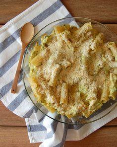 Pesto & courgette pasta bake / Rigatoni de forno com pesto e abobrinha