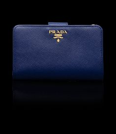 Prada bi-fold wallet (ink blue)