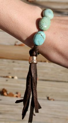 Love Tokens Turq Bracelet www.MarloMillerBoutique.com