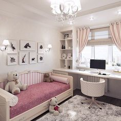 Teen Girl Bedrooms demo - An exceptional take on teen room decor inspirations and examples. For extra exceptional decor explanation simply jump to the image link right now Girl Bedroom Designs, Girls Bedroom, Bedroom Decor, Master Bedroom, Bedroom Lighting, Girl Nursery, Kids Room Bed, Kid Rooms, Kids Room Design