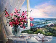 Cross Paintings, Landscape Paintings, Art Pictures, Pictures To Paint, Paint Party, Mosaic Crosses, Vase Fleur, Flower Art, Diamond Paint