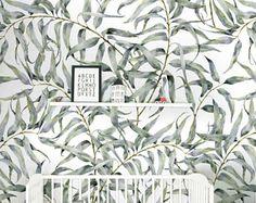 Eucalyptus Blad Verwisselbare Behang Jungle Tijdelijke Behang, Huurders  Vriendelijk Behang, Peel En Stick Muur