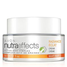 Introducing the NutraEffects product line. The Radiance Collection is formulated to help boost energy production and cell renewal, helping bring new skin to the surface. Night cream get your jar today online at www.youravon.com/my1724 or by clicking on the pin... Need samples I have plenty call me and I will send some your way.