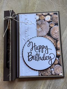 Stamp duo: card with secret compartment - Verpackungen - Birthday Cool Birthday Cards, Dad Birthday Card, Masculine Birthday Cards, Handmade Birthday Cards, Masculine Cards, Male Birthday Cards, 28th Birthday, Free Birthday, Birthday Greetings
