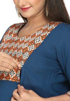 Indian Maternity Wear, Maternity Nursing Dress, Nursing Wear, Maternity Sewing, Maternity Fashion, Maternity Dresses, Pregnancy Dress, Breastfeeding Fashion, Breastfeeding Clothes