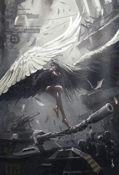 Imagem de angel, art, and fantasy
