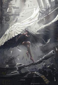 Imagem de angel, art, and fantasy