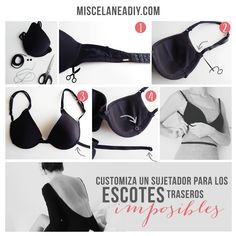 DIY Backless bra | Customiza un sujetador para prendas con escotes en la espalda.