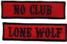 No Club Lone Wolf patch set badge Hot Rod motorcycle biker MC vest Jacket in Collectibles, Transportation, Automobilia, Patches Vest Jacket, Cartoon Head, Cat Patch, Rockabilly Cars, Retro Cartoons, Motorcycle Clubs, Rocker Style, Lone Wolf
