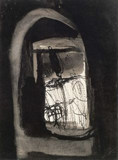 Eva Hesse - No title (Oberlin), 1961  Gouache and ink on paper  15.2 x 11.4 cm