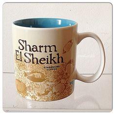 Sharm El Sheikh Starbucks City Mugs, Global Icon, Sharm El Sheikh, Summer 2014, Egyptian, Coffee Mugs, Cups, Tableware, Places