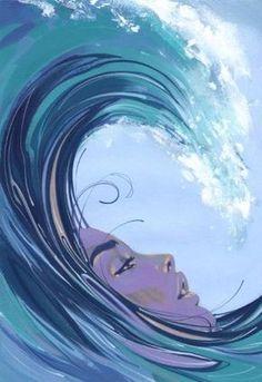 dibujos de olas del mar para niños