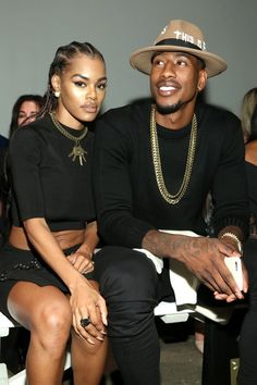 "soph-okonedo: "" Teyana Taylor and NBA star Iman Shumpert attend Nolcha Shows New York Fashion Week Women's S/S 2017 presented by InstaSleep Mint Melts at ArtBeam on September 2016 in New York. Teyana Taylor, Black Love Couples, Cute Couples, Celebrity Couples, Celebrity Photos, Celebrity Style, Black Is Beautiful, Beautiful Couple, Couple Goals"
