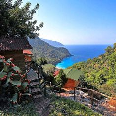View to #Kabak Beach from hotel in #Faralya #Oludeniz #Fethiye #Turkey
