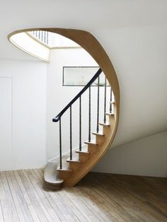 Image result for curved loft stairs