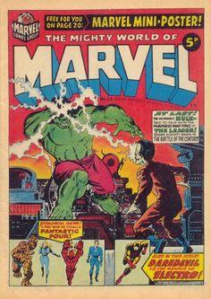 Mighty World of Marvel #22. Jim Starlin cover. #MightyWorldOfMarvel #JimStarlin