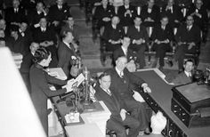 With practically every member present, the U.S. House of Representatives in Washington, D.C. hears its second woman speak other than a member, as Madame Chiang Kai-Shek, wife of China's Generalissimo, pleads for maximum efforts to halt Japan's war aims on February 18, 1943.