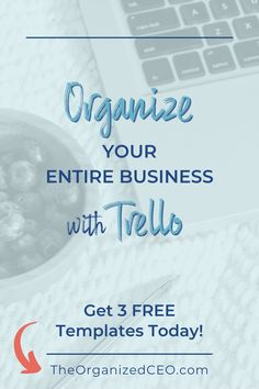 Organize your entire business with these free Trello templates. The 3 boards include the biz dashboard, productivity planner, and system and processes. Great for entrepreneurs, bloggers, coaches, consultants, VAs, service providers, and product creators. If you're an online entrepreneur, you need these Trello boards! Business Organization, Tool Organization, Trello Templates, Online Entrepreneur, Online Jobs, Coaches, Make Money From Home, Productivity, Online Business