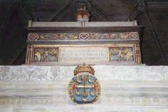 Tomb of Aethelwulf of Wessex, King of England (b. 795 - d. 858) at Winchester Cathedral.
